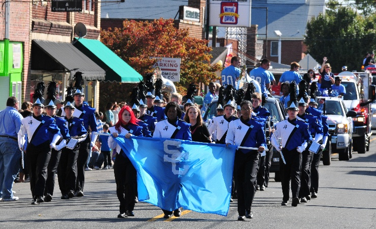 Marching Band in Christmas Parade