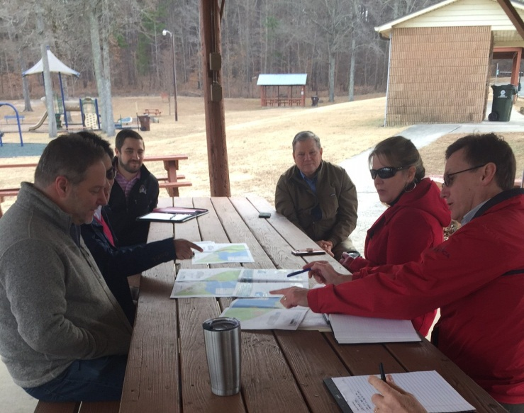 City Staff & Summit Engineering Meeting at Lake Rogers
