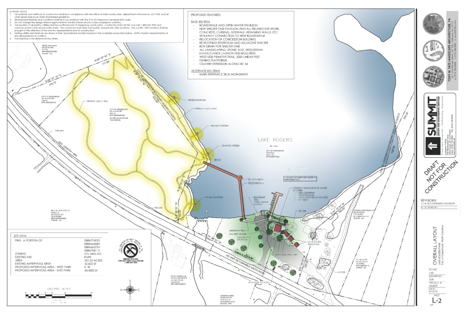 Lake Rogers Park Improvements Project   City of Creedmoor on