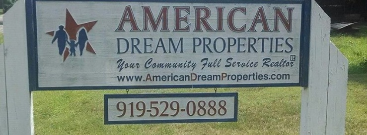 American Dream Properties Sign