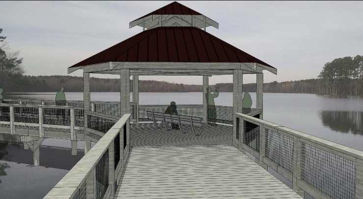 Boardwalk Pavilion Conceptual for Lake Rogers Park