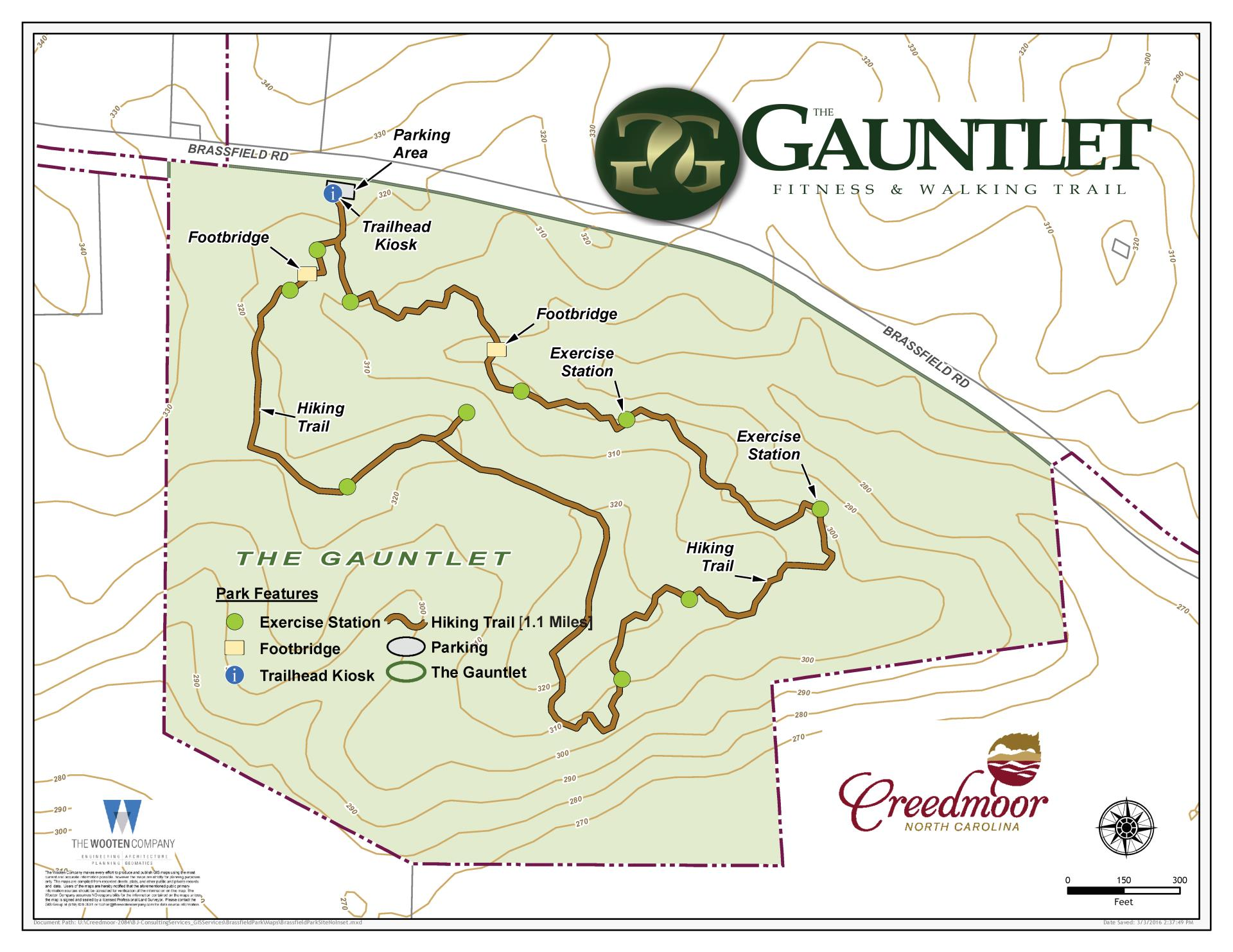The Gauntlet Hiking Trail Map