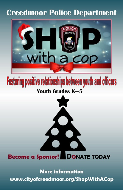 Shop with a Cop Marketing Flyer