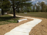 Newly finished sidewalk