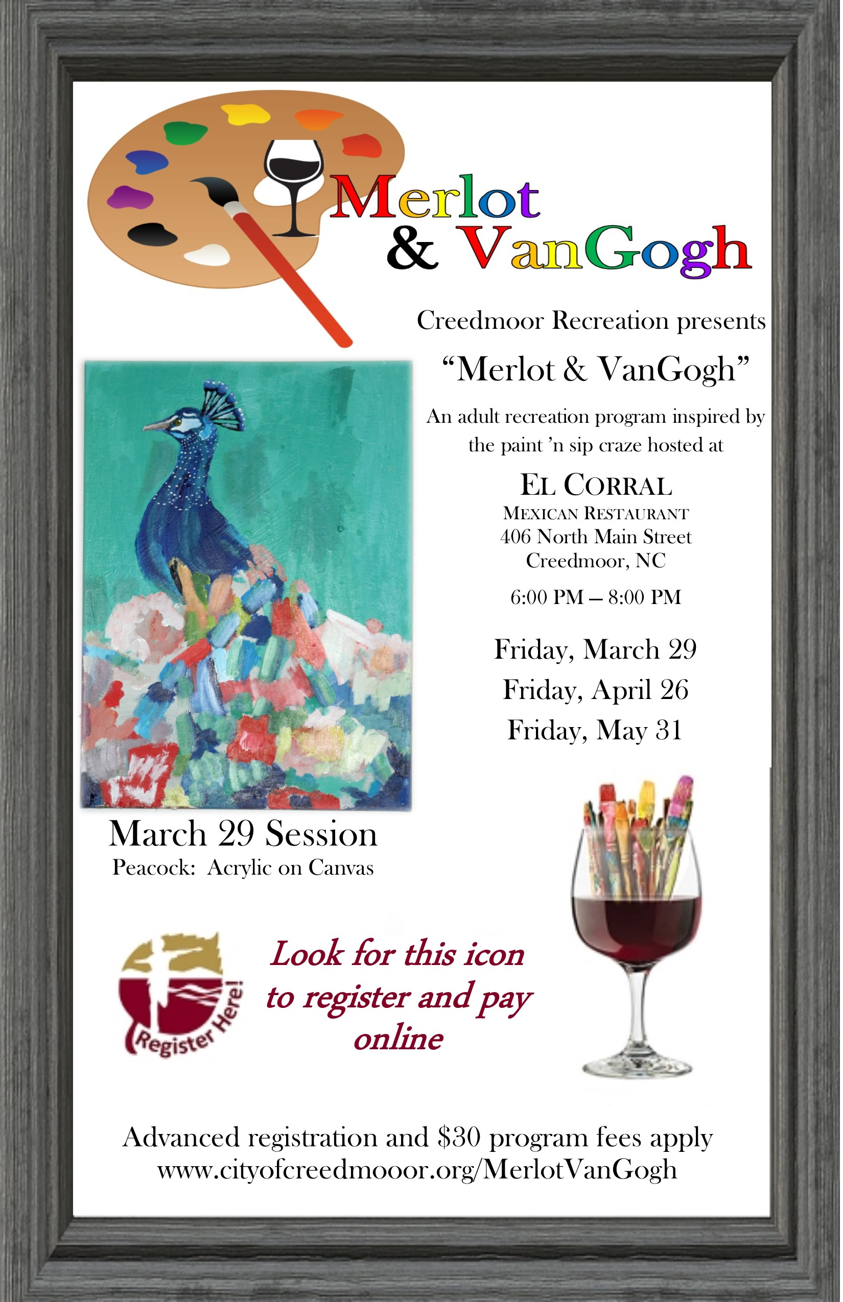 Merlot & VanGogh - March 2019  (El Corral) Peacock_Final
