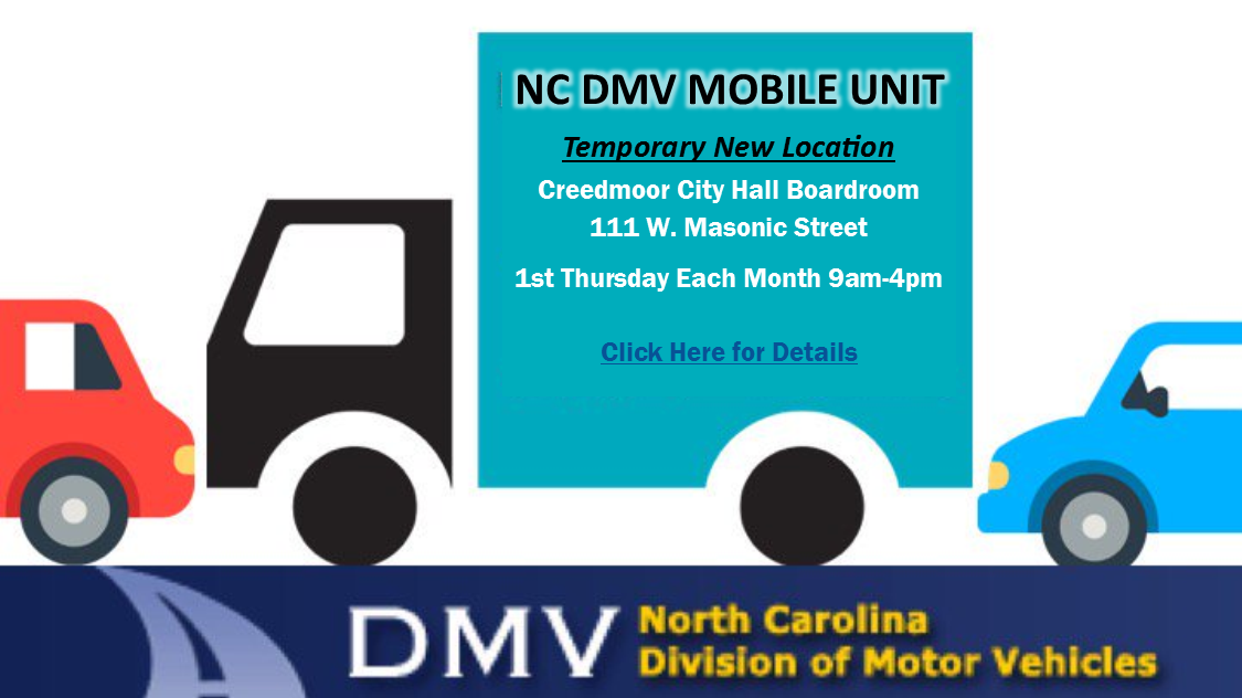 Mobile DMV Moves to City Hall May 9  | News | City of Creedmoor