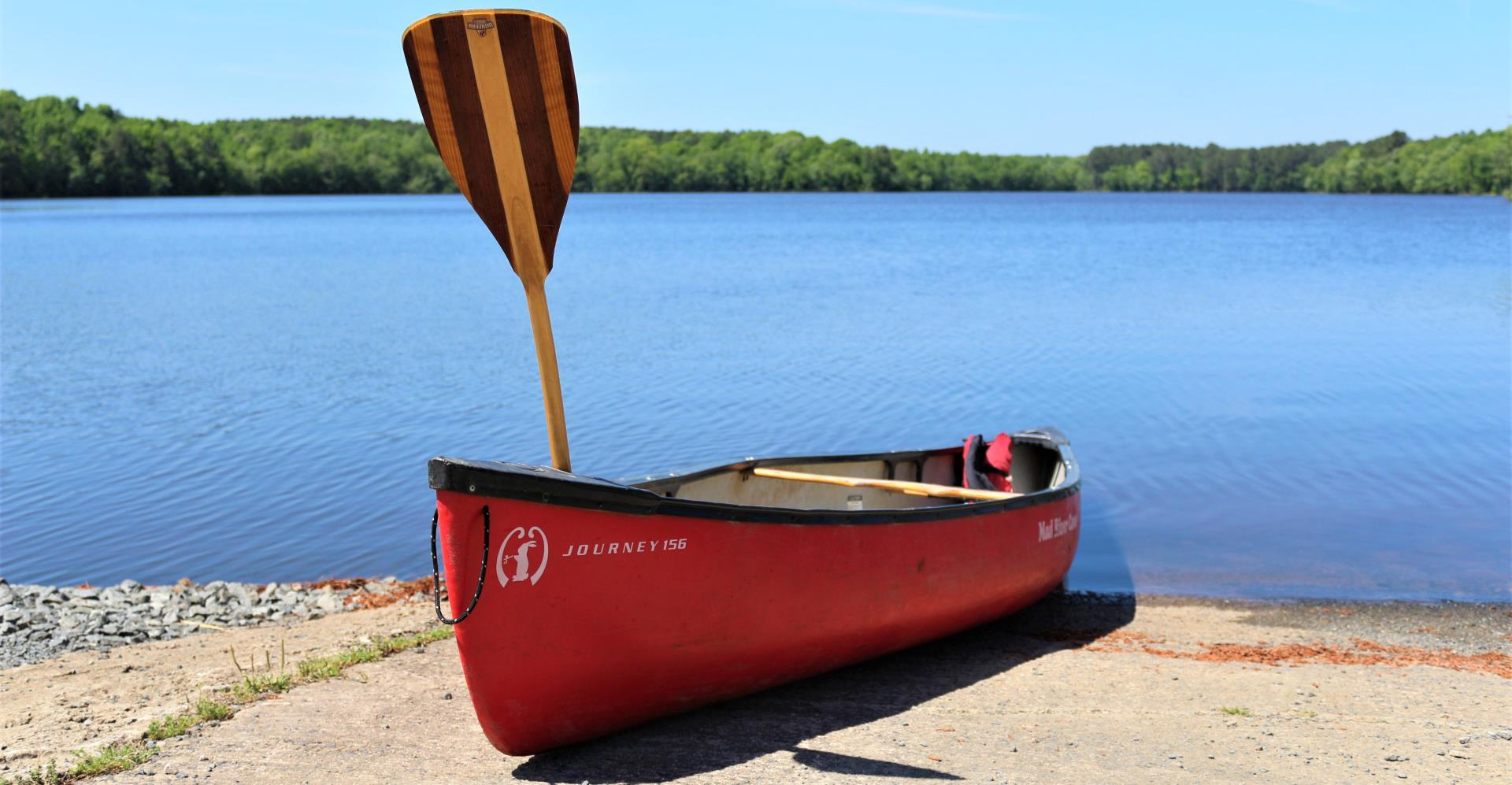 Canoe at Lake Rogers Park