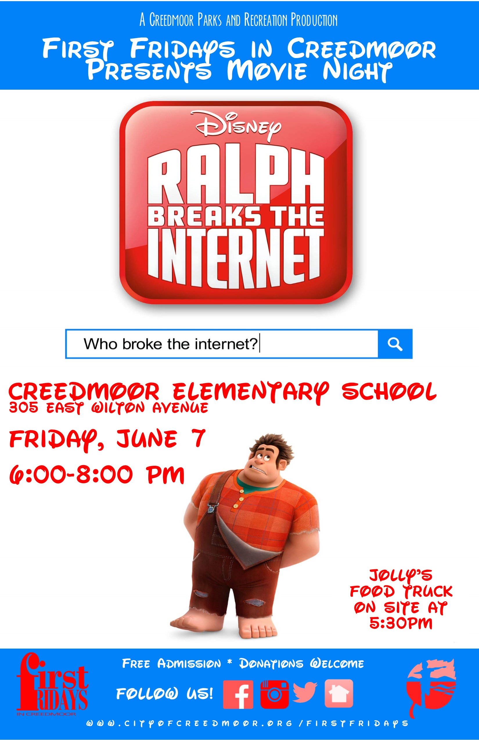 First Fridays in Creedmoor // Movie Night at Creedmoor