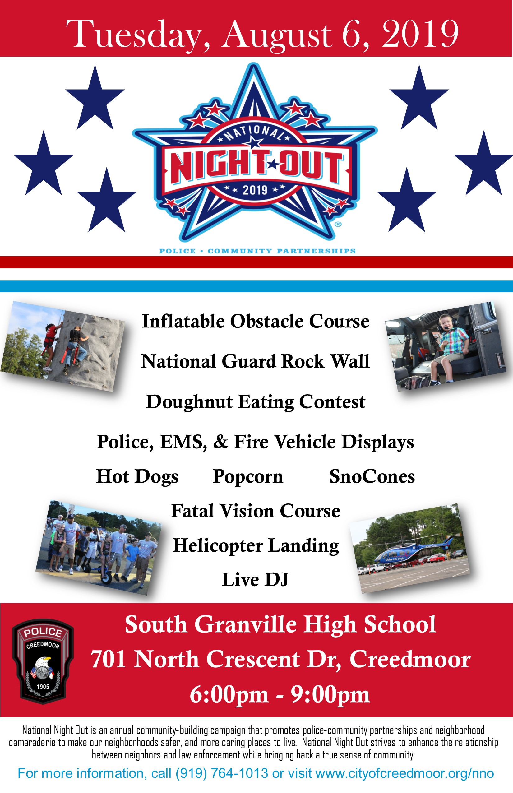 August 6 at South Granville High School