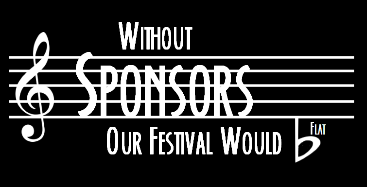 Without Sponsors Our Festival Would b-flat