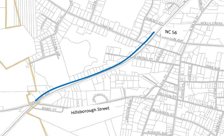 US-15 sidewalk project map