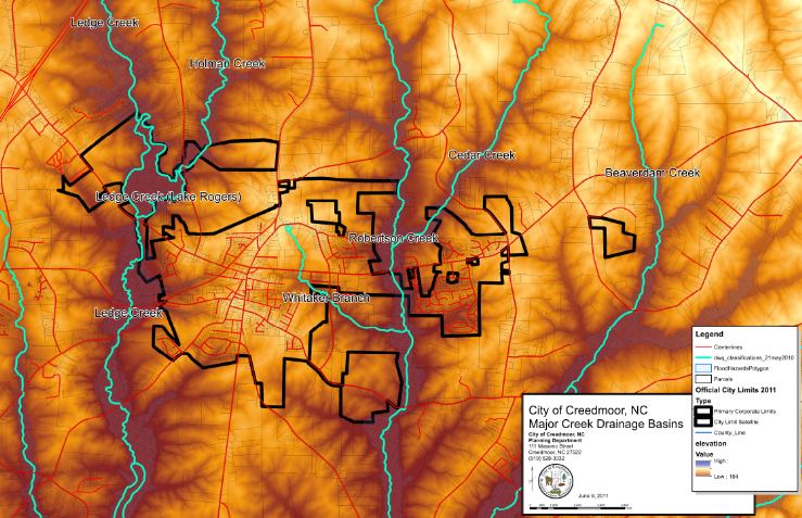 Major Creek Drainage Basins
